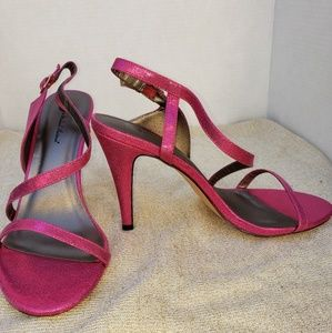 Shoes - Michael Antonio Fuchsia Strappy Heels